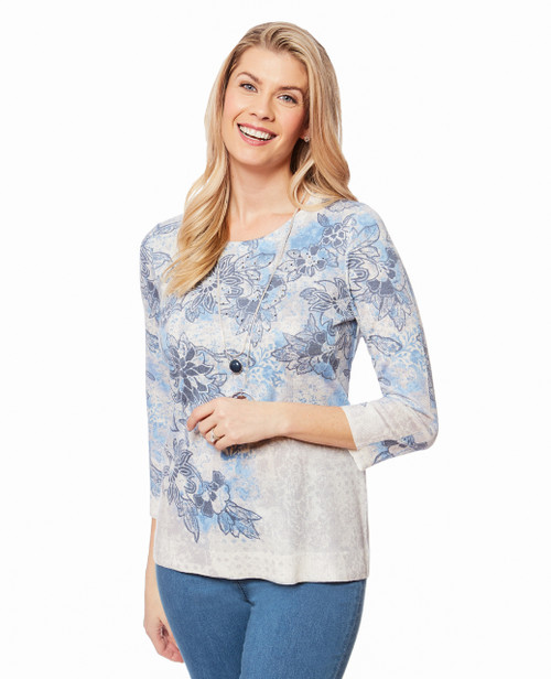 Women s blue pullover sweater cc3ab55fc