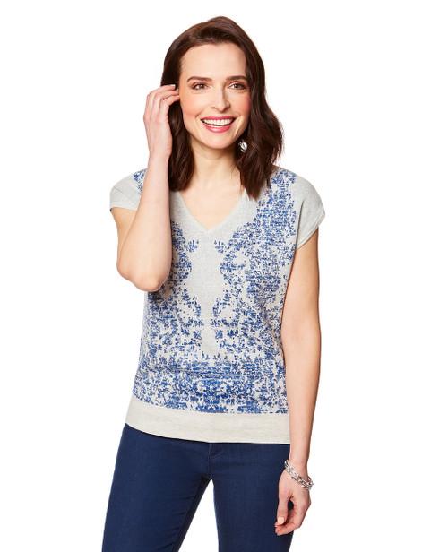 Women s grey short sleeve pullover top 54a11b141