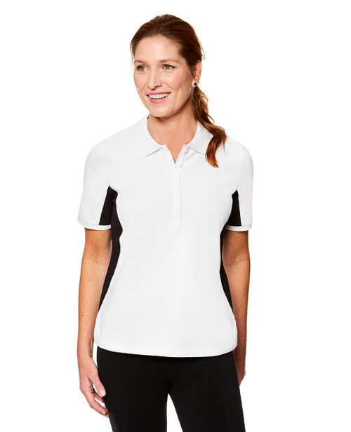 33d5194c1f White and Black Color block Sleeveless Polo Top for Women | Northern ...