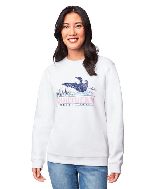 3c054f1a7c6c Women s white iconic logo sweatshirt