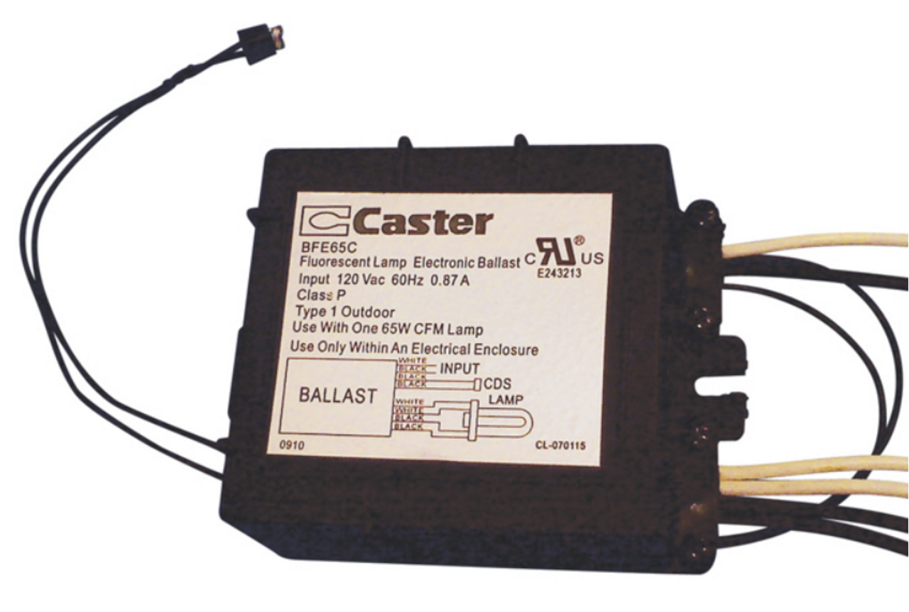 Caster BFE65C Compact Fluorescent Ballast with Photocell