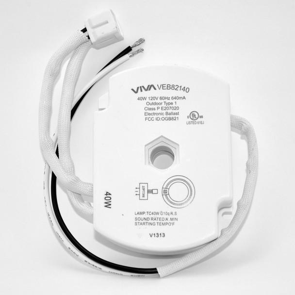 VIVA VEB82140 40W Circline Ballast with Connectors