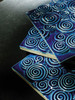 Bristol Studios - Nouveau - G2350 Chinon Blue Relief Deco - 6X6 Hand Crafted Decorative Tile - $3.95