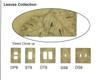 Resin Travertine Faux Stone Wall Switch Plate Outlet Cover - Single Toggle Switch - Leaves - Dark Travertine Color - $4.99