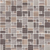American Olean Entourage Fortify - FF05 Rock - Block Random Glass & Stone Mosaic Tile - Sample