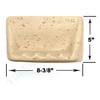 Shaw CS535 - Soap Dish - Resin Faux Stone - Neutral Travertine Color - Bath Accessory - $9.99