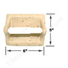 Shaw CS536 - Toilet Tissue Paper Holder - Resin Faux Stone - Neutral Travertine Color - Bath Accessory - $9.99