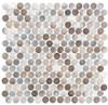 Urban Jungle - UJ662 Prism Road - Penny Round Aluminum Metal Cap Mosaic