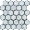White Carrara Marble - 2 X 2 Vortex Hexagon With Gray Mosaic - Honed - Premium Italian Carrera Natural Stone