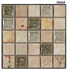 Tranquil - TS-903 Olive Grove - 1X1 Square Crackle Jewel Glass & Natural Stone Decorative Mosaic Tile - Sample