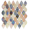 Supplier: Tile Store Online, Name: Aquatica AQ-2002, Color: Glossy Spectrum, Type: Rhomboid Diamond Oval Glass Mosaic Tile, Size: 10X10