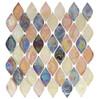 Aquatica Glass - AQ-2002 Glossy Spectrum - Rhomboid Diamond Oval Glass Tile Mosaic - Iridescent - Sample