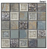 Supplier: Tile Store Online, Name: Tranquil TS-906, Color: Methodical Grey, Type: Crackle Jewel Glass & Stone Mosaic Tile, Size: 1X1