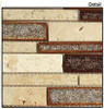 Supplier: Tile Store Online, Name: Tranquil Random Brick Linear TS-940, Color: Sedona Rust, Type: Crackle Jewel Glass & Stone Mosaic Tile, Size: 12X13.5