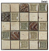Tranquil - TS-908 Methodical Sand - 1X1 Square Crackle Jewel Glass & Natural Stone Decorative Mosaic Tile - Sample