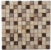 Supplier: Tile Store Online, Name: Tranquil TS-910, Color: Rocky Beach, Type: Crackle Jewel Glass & Stone Mosaic Tile, Size: 1X1