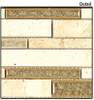 Supplier: Tile Store Online, Name: Tranquil Random Brick Linear TS-942, Color: Sage Brush, Type: Crackle Jewel Glass & Stone Mosaic Tile, Size: 12X13.5
