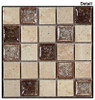 Tranquil - TS-910 Rocky Beach - 1X1 Square Crackle Jewel Glass & Natural Stone Decorative Mosaic Tile - Sample