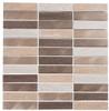Maison De Luxe Series - MDX-2704 Gilden Sable - Brick Shape Porcelain Wood & Metal Mosaic Tile - Stacked