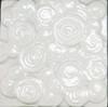 Bristol Studios - Nouveau - G2451 Chinon Blanc White Relief Deco - 6X6 Hand Crafted Decorative Tile - $4.95