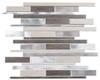 Maison De Luxe Series - MDX-2722 Platinum Road - Brick Shape Porcelain Wood & Metal Mosaic Tile - Random