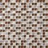 Bristol Studios - Crystal Stone - G2285 Olive Squares - 5/8 X 5/8 Square Glass & Stone Tile Mosaic - Sample