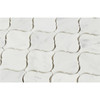 "Carrara White Marble - Arabesque Lantern Baroque Moroccan Mosaic Tile - 2"" - POLISHED"