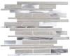 Maison De Luxe Series - MDX-2723 Throne Room - Brick Shape Porcelain Wood & Metal Mosaic Tile - Random