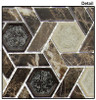 Supplier: Tile Store Online, Name: Tranquil Hexagon TS-953, Color: Capitol Archive, Type: Crackle Jewel Glass & Stone Mosaic Tile, Size: 11.75X12.25
