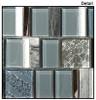 Supplier: Tile Store Online, Name: Academia AS-73, Color: Oceanic Cerulean,Type: Random Offset Glass, Stone, Metal Mosaic Tile, Size: Random