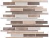 Maison De Luxe Series - MDX-2724 Cashmere Drive - Brick Shape Porcelain Wood & Metal Mosaic Tile - Random