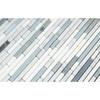 Carrara White Marble - Bamboo Sticks Mix #2 - 5/16 X Random Length Mini Brick Strip Mosaic - HONED