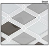 Supplier: Tile Store Online, Name: Falling Star, Color: Silver Quill, Type: Glass & Metal Mosaic Tile, Size: Diamond