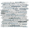 Carrara White Marble - Bamboo Sticks Mix #2 - 5/16 X Random Length Mini Brick Strip Mosaic - POLISHED