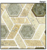 Supplier: Tile Store Online, Name: Tranquil Hexagon TS-955, Color: Olympus Shade, Type: Crackle Jewel Glass & Stone Mosaic Tile, Size: 11.75X12.25