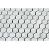 White Carrara Marble - 1 X 1 Hexagon Mosaic - Honed - Premium Italian Carrera Natural Stone