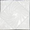 Bristol Studios - Nouveau - G2451 Lyon Blanc White Relief Deco - 6X6 Hand Crafted Decorative Tile - $4.95