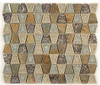 Supplier: Tile Store Online, Name: Tranquil Trapezoid TS-931, Color: Soft Mushroom, Type: Crackle Jewel Glass & Stone Mosaic Tile, Size: 11.5X11.5