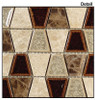 Supplier: Tile Store Online, Name: Tranquil Trapezoid TS-932, Color: Quiet Mahogany, Type: Crackle Jewel Glass & Stone Mosaic Tile, Size: 11.5X11.5