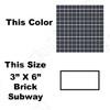 Daltile Color Wave Glass Tile - CW19 Nine Iron - 3 X 6 Brick Subway Dal Tile Glass - Glossy - Sample