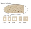 Resin Travertine Faux Stone Wall Switch Plate Outlet Cover - Single GFCI Rocker - Leaves - Light Travertine Color - $4.99