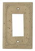 Resin Travertine Faux Stone Wall Switch Plate Outlet Cover - Single GFCI Rocker - Geometric - Dark Travertine Color - $4.99