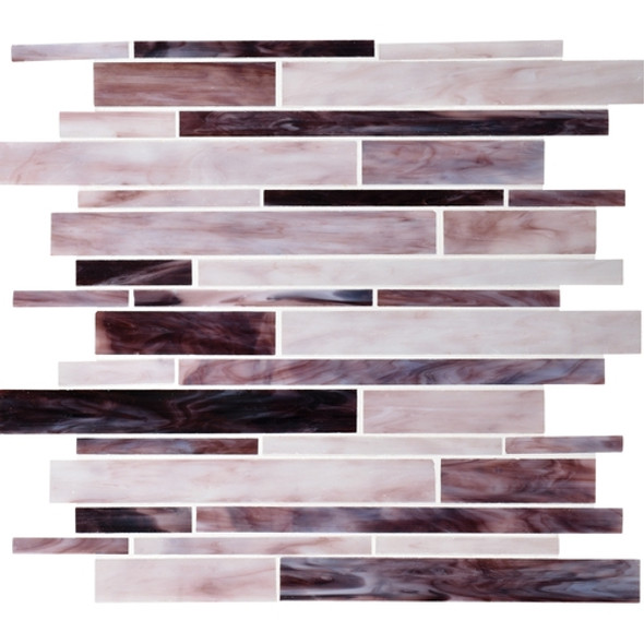 Daltile Serenade Stained Glass Mosaic - F191 Crescent City - Random Linear Glass Tile Mosaic * SAMPLE *