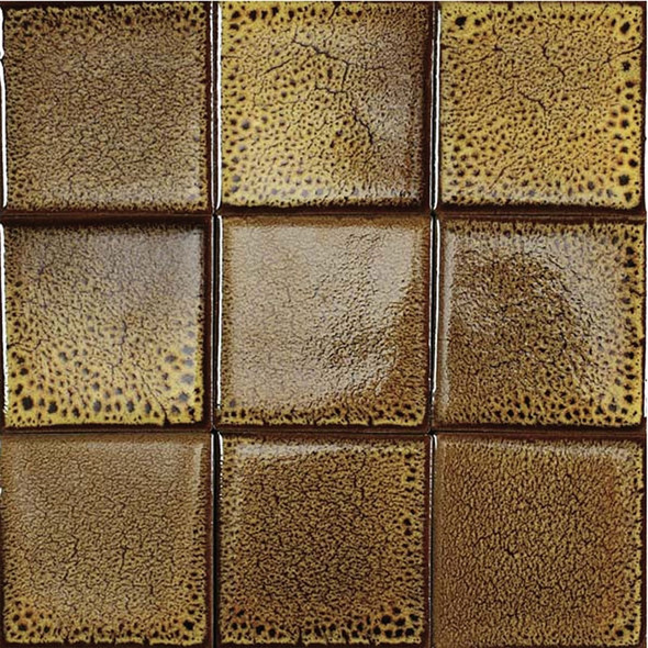 Bristol Studios - Cosmic - G2262 Solar - 4X4 Handcrafted Decorative Tile - Sample
