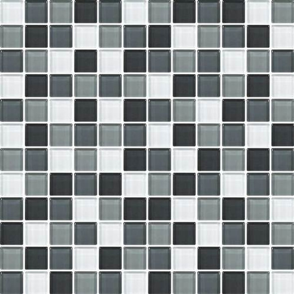 Supplier: Daltile, Series: Color Wave, Name: CW28 Evening Mixer - Glossy, Category: Glass Tile, Size: 1 X 1
