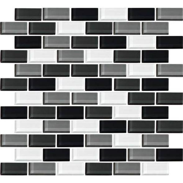 Daltile Color Wave Glass - CW28 Evening Mixer Blend - 1 X 2 Brick Subway Dal Tile Glass Tile - Glossy - Sample