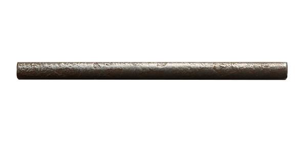 Daltile Metal Signatures - Chateau Pencil Liner - MS10 Aged Iron - 3/8 X 6 Metallic Deco Liner Border