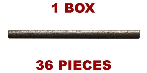Daltile Metal Signatures - Chateau Pencil Liner - MS10 Aged Iron - 3/8 X 6 Metallic Deco Liner - 36 PC. BOX