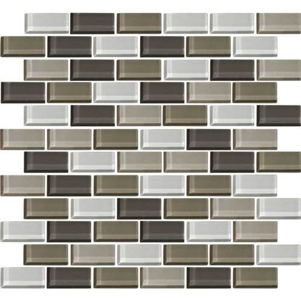 Daltile Color Wave Glass - CW22 Soft Cashmere Blend - 1 X 2 Brick Subway Dal Tile Glass Tile - Glossy - Sample