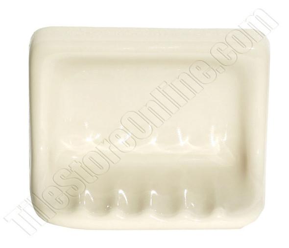 "Supplier: Daltile, Type: Glazed Ceramic Shower Tub Soap Dish, Name: BA725, Color: 0135 Almond, Size: 4-3/4"" X 6-5/8"""